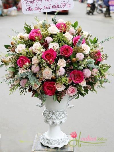 lẵng Hoa sinh nhật đẹp và sang trọng