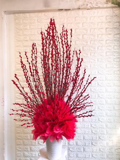 Bình hoa nụ tầm xuân- tết may mắn