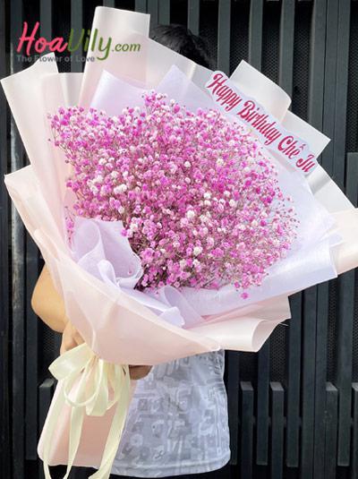 Bó hoa baby - Chiều hồng
