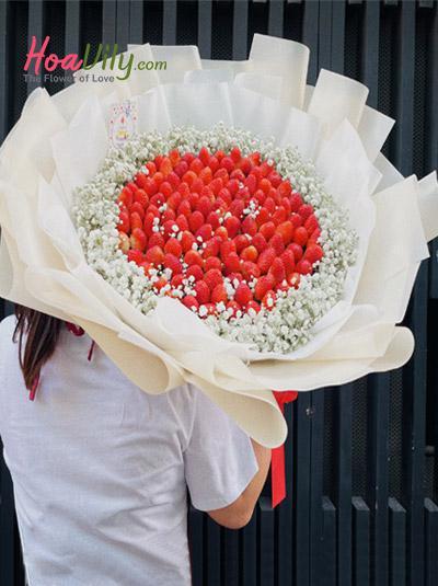 Bó hoa baby dâu tây - Sweetie