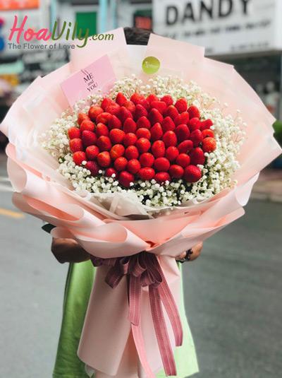 Bó hoa baby dâu tây - Tình yêu thơ ngây