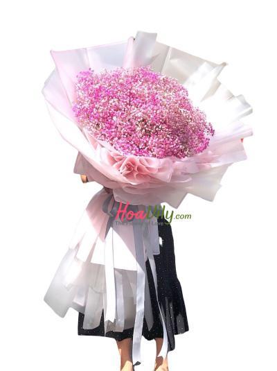 Bó hoa baby hồng - Chỉ cần em vui