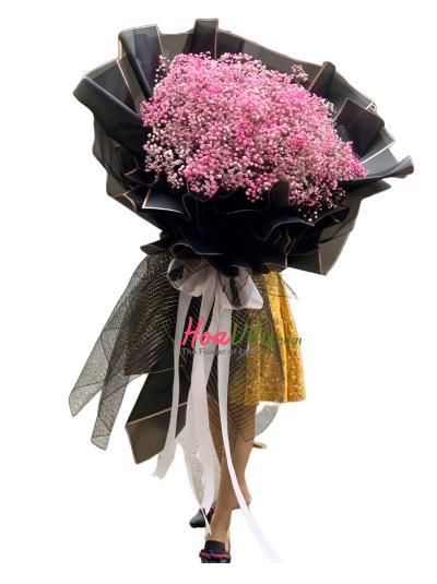 Bó hoa baby hồng - Dành trọn cho em