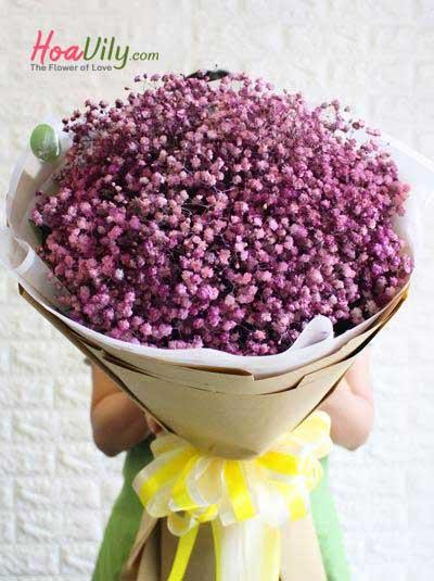 Bó hoa baby hồng đẹp nhất