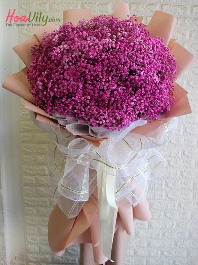 Bó hoa baby hồng đốn tim nàng