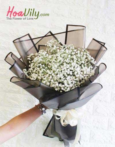Bó hoa baby- Phong cách Tây