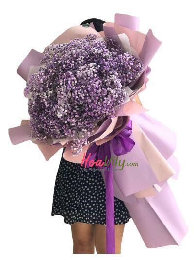 Bó hoa baby tím  - Điều lãng mạn