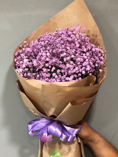 Bó hoa baby tím - Sắt son