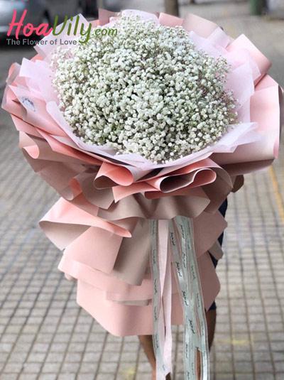 Bó hoa baby trắng - Ngẩn ngơ