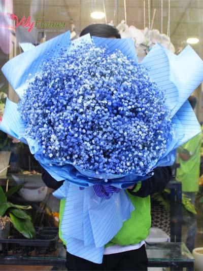 Bó hoa baby xanh - Bình yên cho em