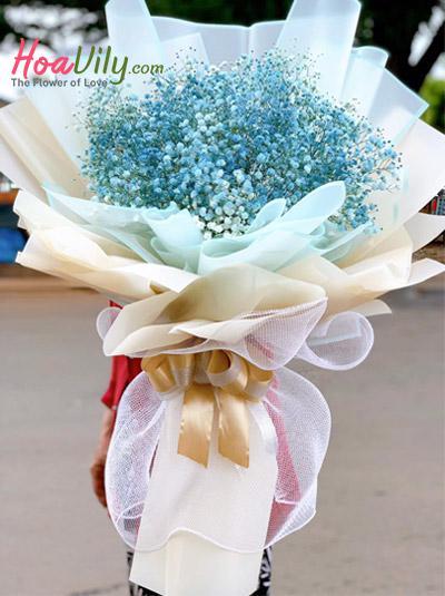 Bó hoa baby xanh - Mắt biếc