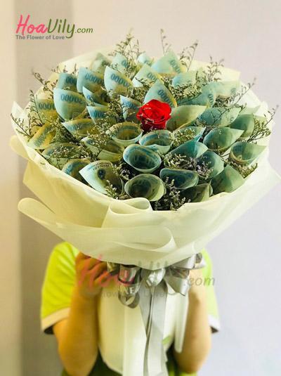 Bó hoa bằng tiền - Dành tặng em