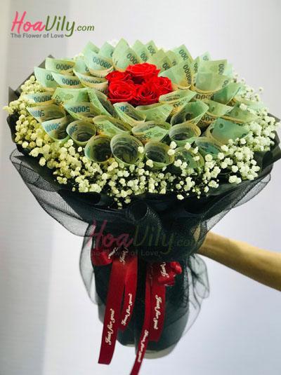Bó hoa bằng tiền - Món quà bất ngờ