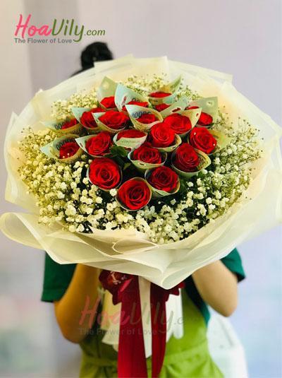 Bó hoa bằng tiền - Tấm lòng thành