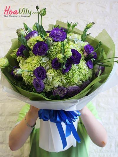 Bó hoa cẩm tú cầu - Giản đơn