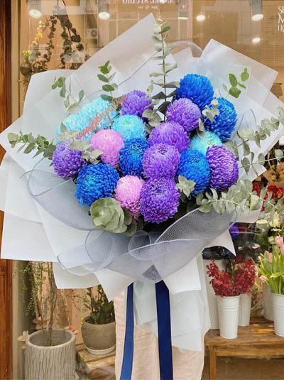 Bó hoa cúc mẫu đơn đẹp nhất