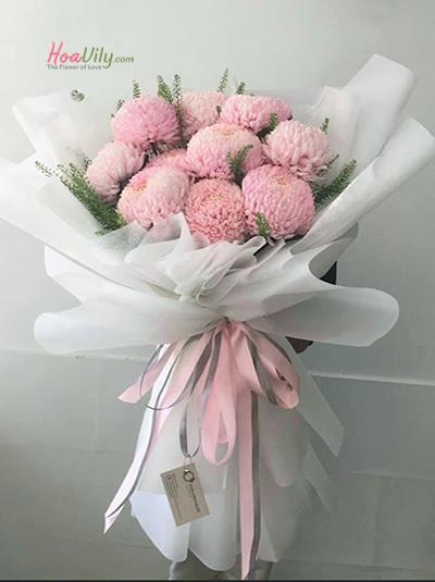Bó hoa cúc mẫu đơn - Điều muốn nói