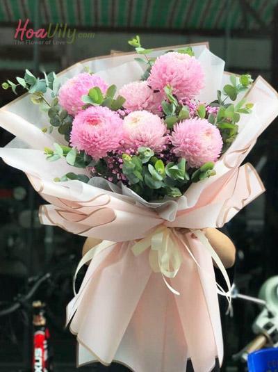 Bó hoa cúc mẫu đơn - Điều tôi yêu