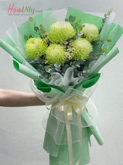 Bó hoa cúc mẫu đơn - Happy day