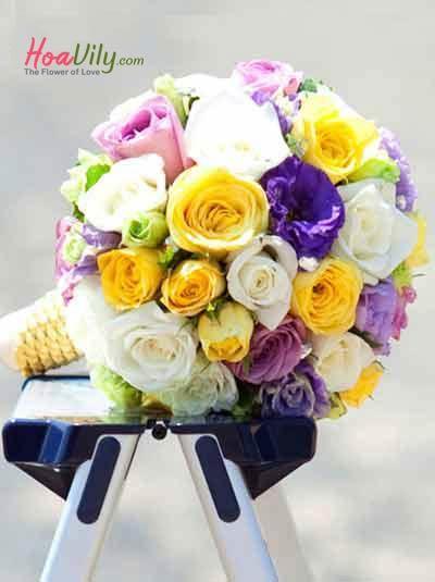 Bó hoa cưới đẹp phong cách 2018