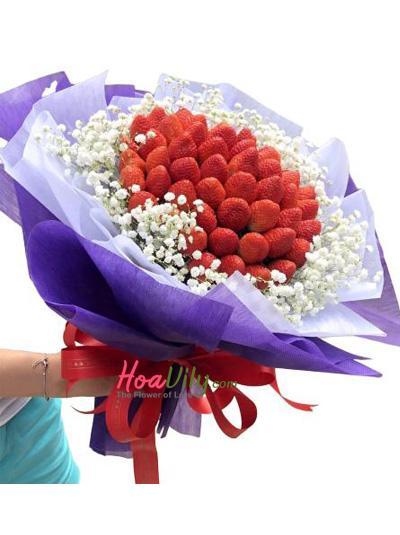 Bó hoa dâu tây - Ngọt ngào