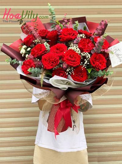 Bó hoa hồng cao cấp - Hòa quyện