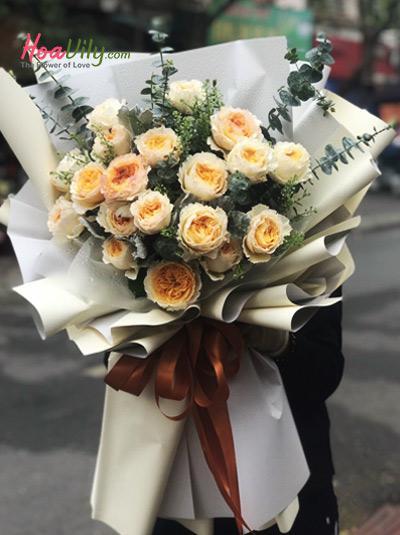 Bó hoa hồng cao cấp - Hương mật