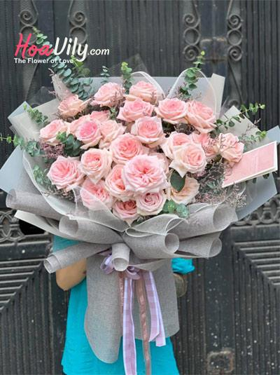 Bó hoa hồng cao cấp - Tuổi hồng