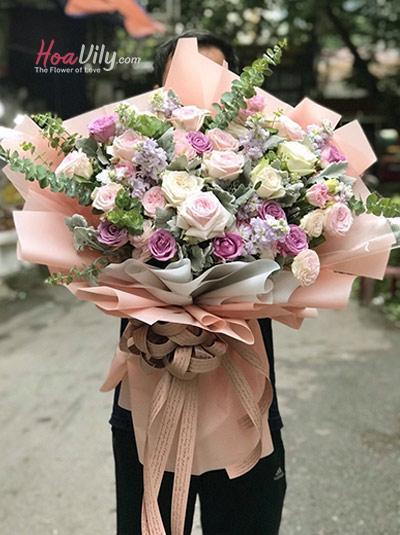 Bó hoa hồng - Đến với anh