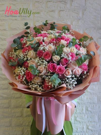 Bó hoa hồng đẹp nhất - Tình thơ