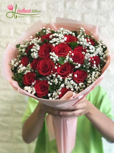 Bó hoa hồng lãng mạn ngọt ngào dành tặng sinh nhật vợ