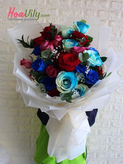 Bó hoa hồng ecuador mix đẹp nhất