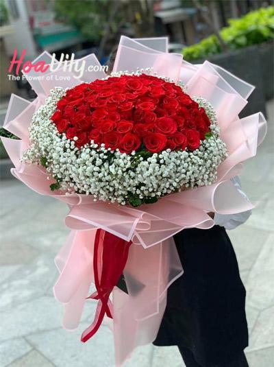 Bó hoa hồng - Hẹn yêu