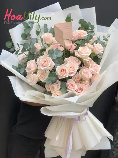 Bó hoa hồng sinh nhật - Chốn yêu