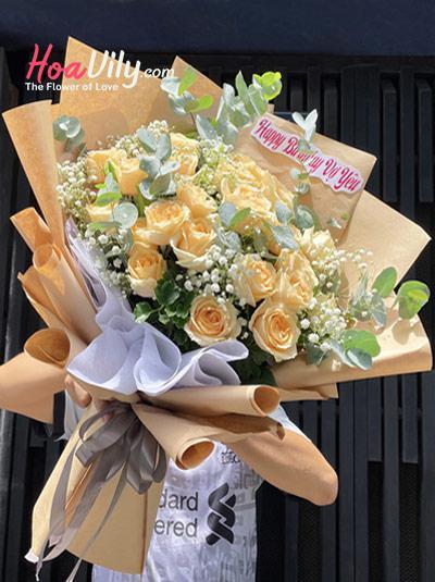 Bó hoa hồng sinh nhật - Độc đáo