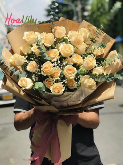 Bó hoa hồng sinh nhật - Luôn bên em