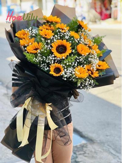 Bó hoa hướng dương - Ánh mặt trời