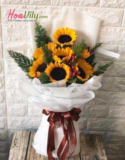 Bó hoa hướng dương - Niềm vui mỗi ngày
