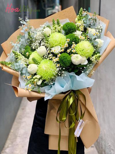 Bó hoa rêu phong