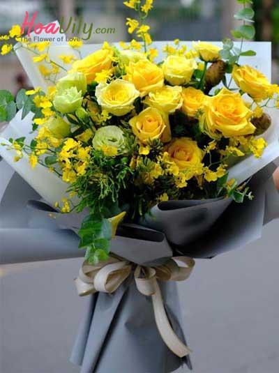 Bó hoa tone vàng - Thanh tao