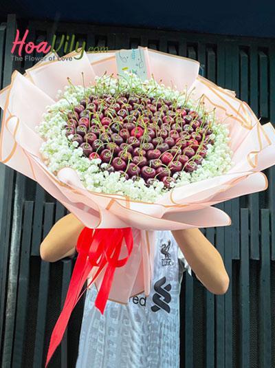 Bó hoa trái cây cherry - Sweet baby