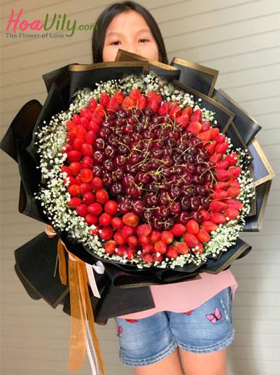Bó hoa trái cây cherry - Vị dịu ngọt