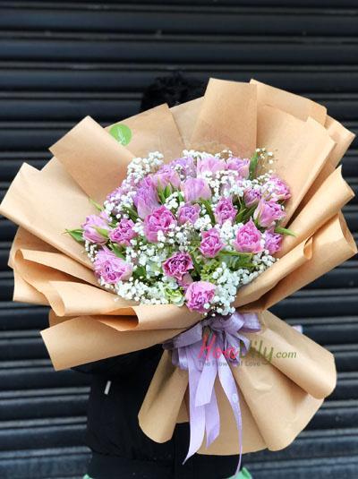 Bó hoa tulip tím - Tình thủy chung