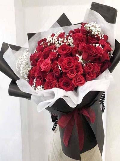 Bó hồng 99 bông phong cách Hàn Quốc