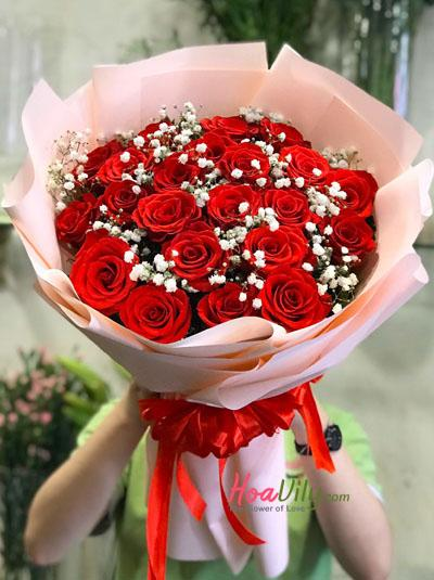 Bó hồng đỏ - Đắm say