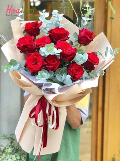Bó hồng đỏ Ecuador - Tình nồng