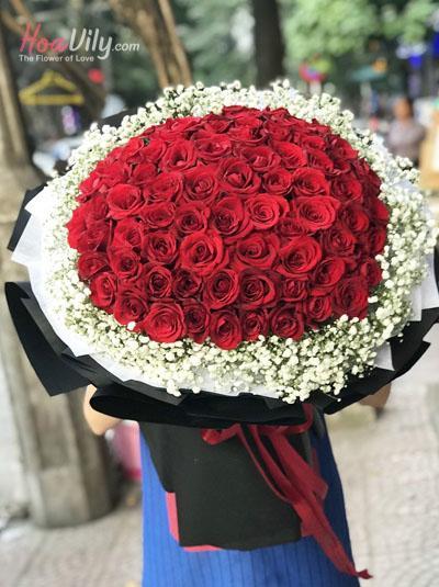 Bó hồng đỏ - Tình trong tim
