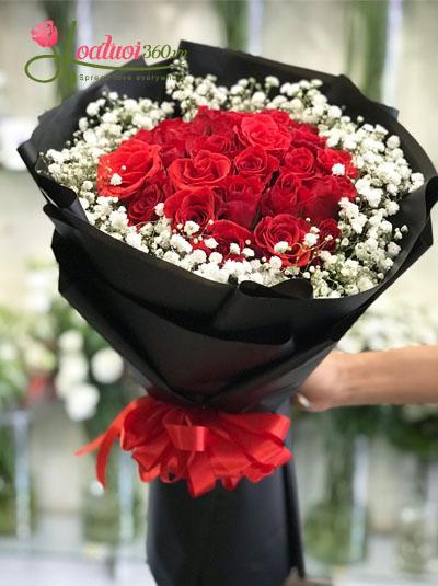 Bó hồng đỏ tuyệt đẹp