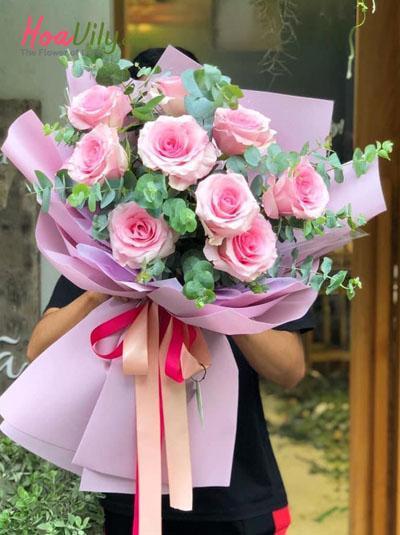Bó hồng Ecuador - Hồng xinh