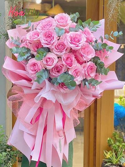 Bó hồng Ecuador  - Pink love